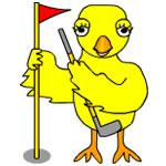 Golfing Chick
