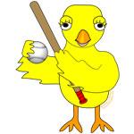 Softball Baseball Chick