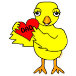 Heart Dad Chick
