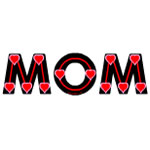 Mom Red Hearts