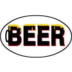 Beer Foam Text Oval