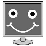 Happy Computer Monitor