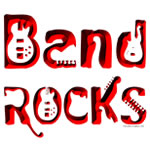 Color Red Band Rocks