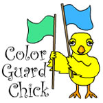 Color Guard Chick Text