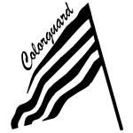 Tilted Colorguard Flag