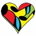 Mulitcolored Music Heart