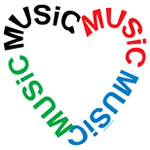 Music Text Heart