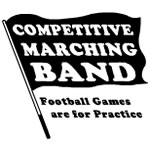 Black Competitive Marching Band Flag