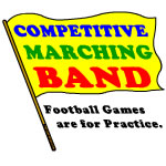 Colorful Competitive Marching Band Flag