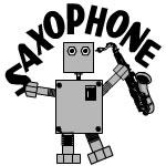 Saxophone Robot Text