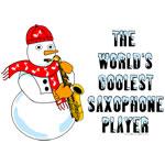Coolest Saxophone Snowman