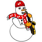 Saxophone Snowman