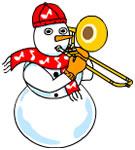 Trombone Snowman