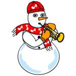 Trumpet Snowman