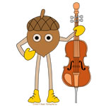 Cello Nut Text