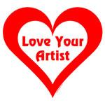 Artist Heart Red