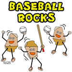 Three Baseball Rocks