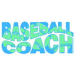 Blue Wavy Baseball Coach