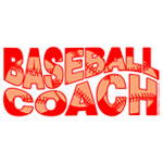 Red Wavy Baseball Coach
