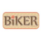 Brown Biker Text