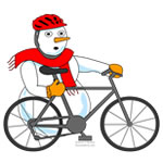 Snowman Cyclist