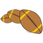 Three Footballs