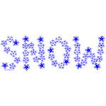 Snow Flake Text