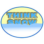 Think Snow Oval