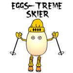 Eggs-treme Skier