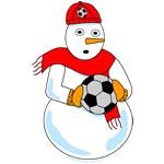 Soccer Snowman
