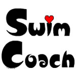 Swim Coach Small Heart