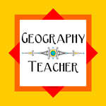 Geography Teacher Color Block