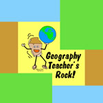 Colorful Geography Teacher's Rock